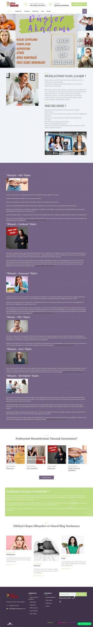Düşler Akademi Web Sitesi Tasarımı