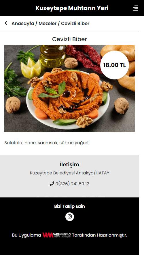 Hatay Restaurant Cafe Qr Menü Uygulaması